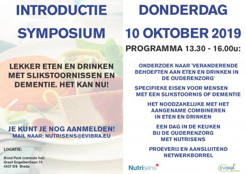 Introductie Nutrisens symposium 10 oktober 2019